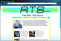 ATS Group Website Home Screen